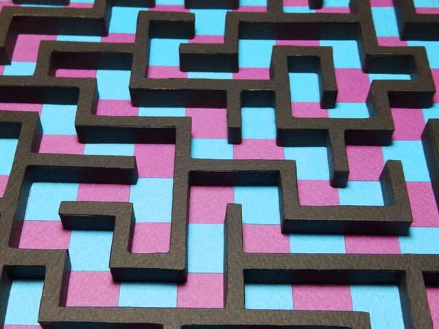 コロコロ迷路「瑠璃&赤紫」2