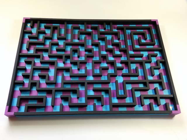 コロコロ迷路「瑠璃&赤紫」1