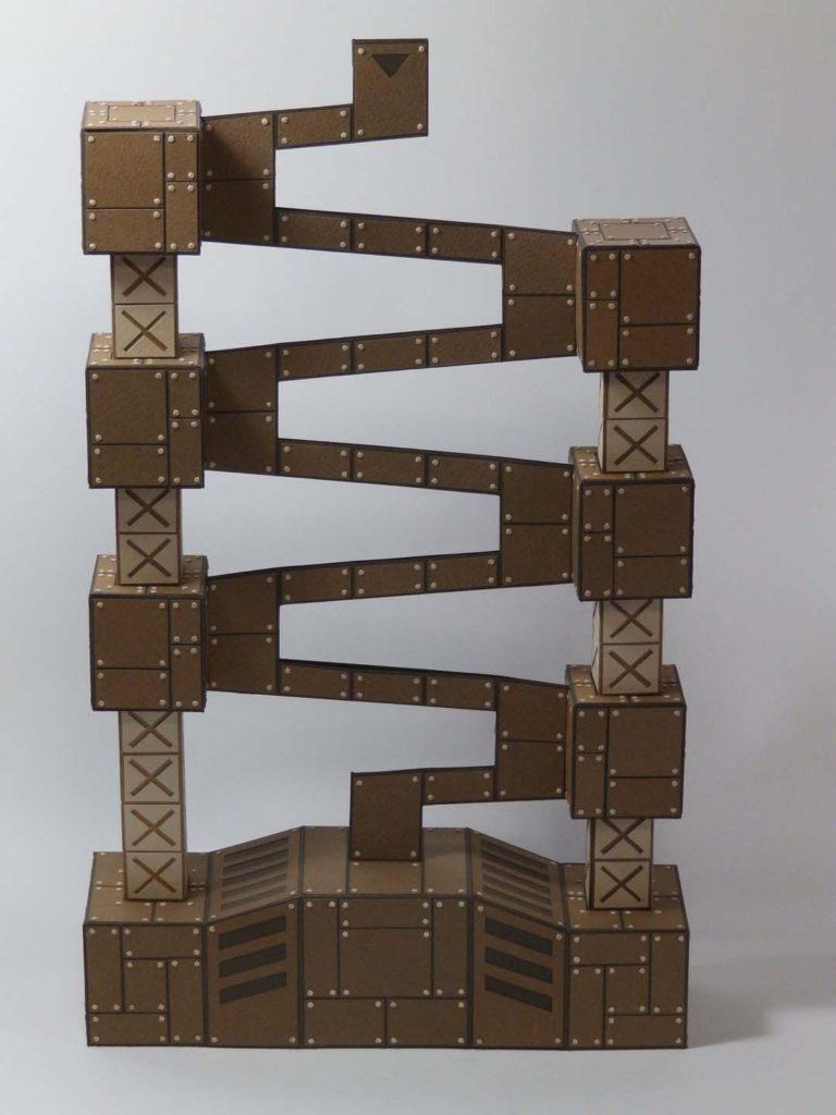 コロコロ貯金箱「鉄骨の塔」1
